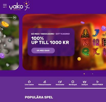 Yako casino och deras nya utseende!
