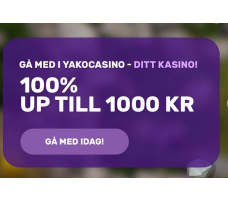 Hämta casino bonusen nu på Yako Casino!